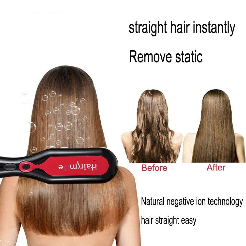 Amazon Professional Hair Straightener Brush Flat Iron With