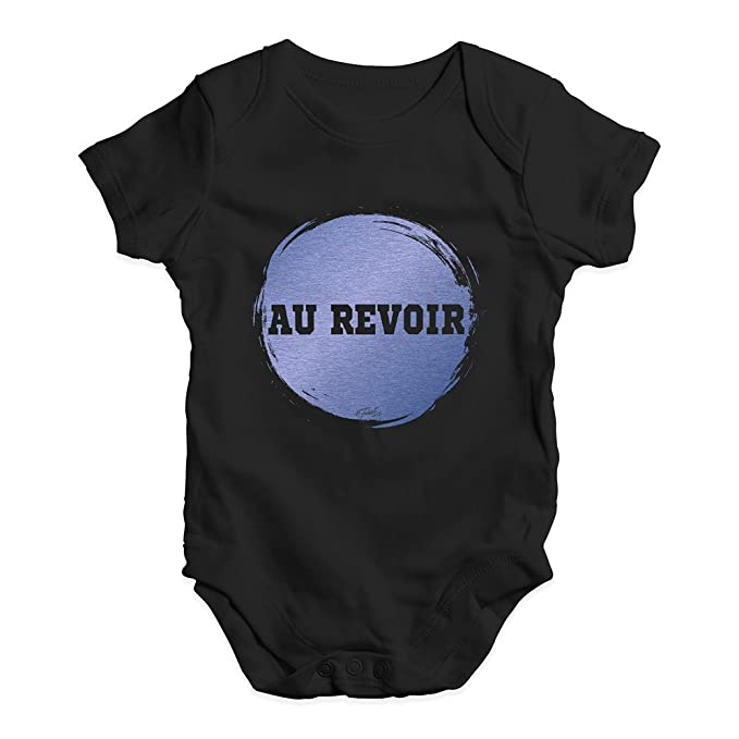 a6380e17ddea Amazon.com  Twisted Envy Funny Baby Clothes Au Revoir  Clothing