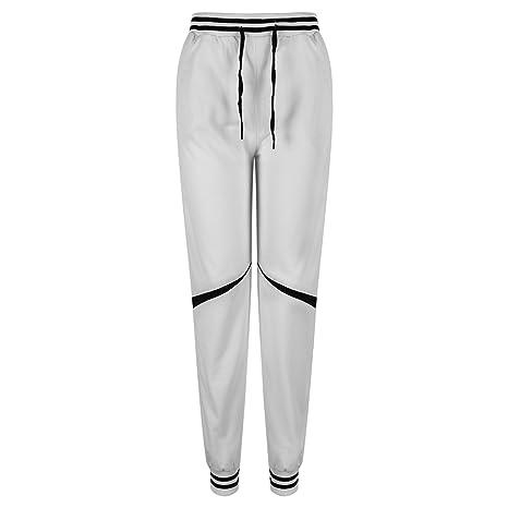Eleery - Pantalones de chándal anchos para hombre, estilo hip hop ...