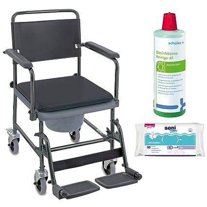 Invacare H720T – Silla inodoro, Higiene Juego Incluye Desinfectante Limpiador & Toallitas