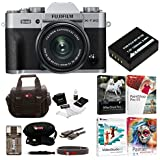 Fujifilm X-T20 Digital Camera with 15-45mm Lens (Silver) w/Editing Software & 32GB Memory Card Bundle