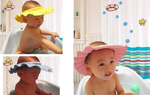 8e3ceeef2312 CAOLATOR Lave-vaisselle Shampooing Douche Bain de protection doux Bonnet  pour enfant, bébé, enfants Enfants à garder l eau hors de leur visage et  yeux  ...