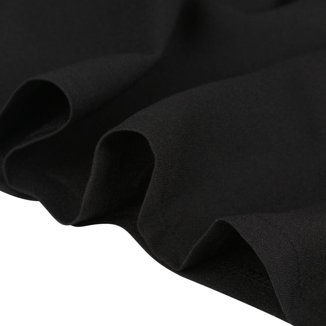 SHOBDW Las Mujeres Forman la Falda Negra Atractiva del Verano con Las Correas de Hombro plisaron el Mini Vestido