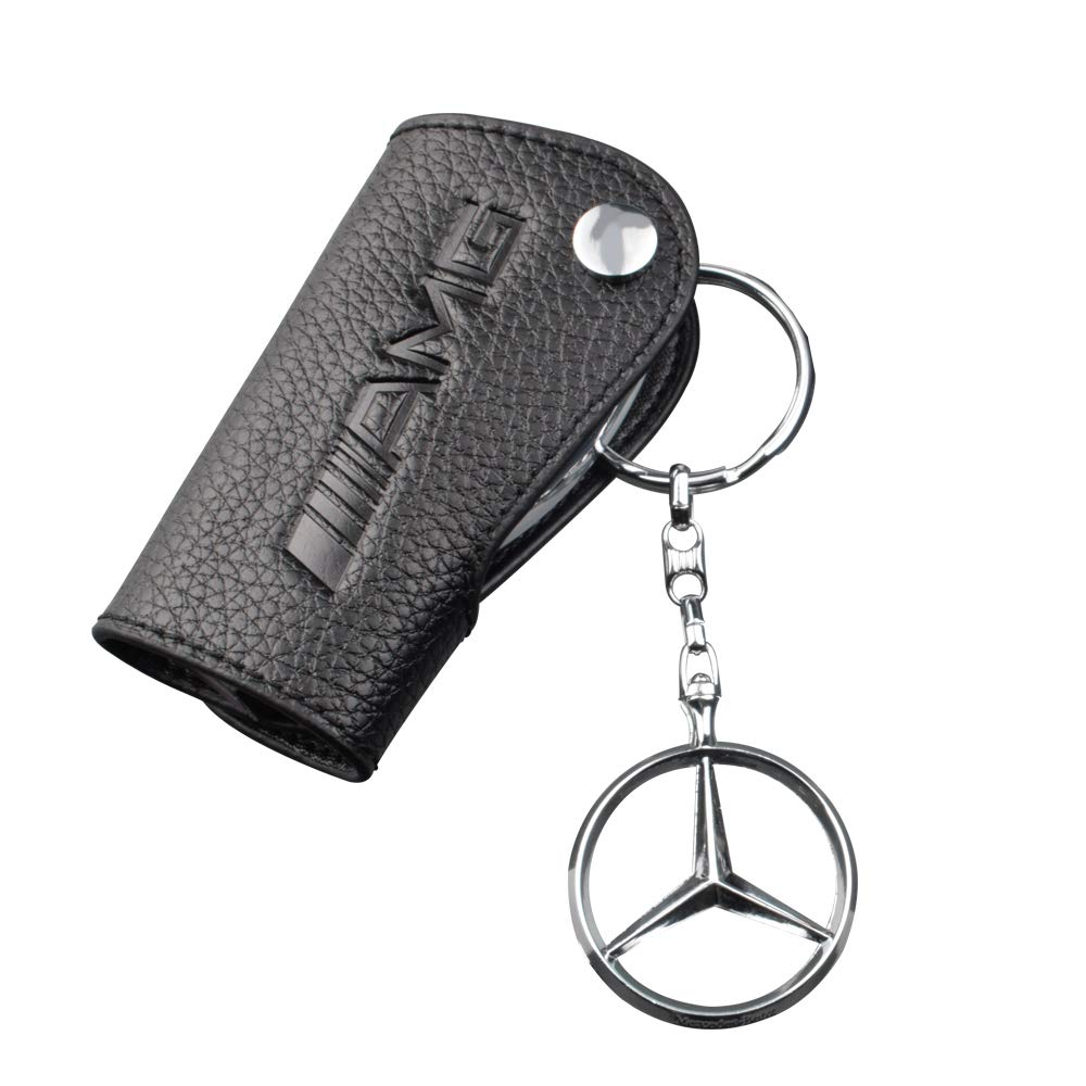 Bailunte for Mercedes Benz Key fob Cover A B C E S Class W205 W212 W166 W176 W203 W204 W245 W244 W222 W221 ML350 GL350 CLA GLA GLC X253 Key Chain case Ring Accessories