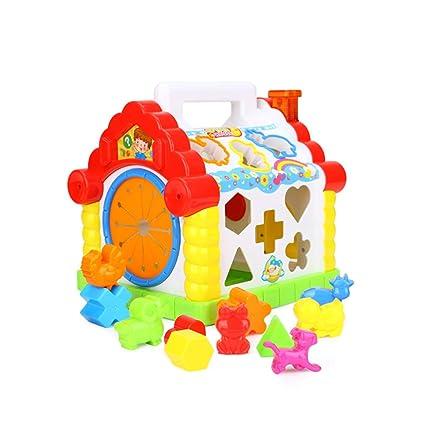 Multifunctional Musical Toys Baby Fun House Musical Electronic Geometric Blocks