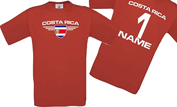 Shirtstown Man Camiseta Costa Rica Camiseta de País con SU Jungen y su Número Deseado, Fútbol: Amazon.es: Ropa y accesorios