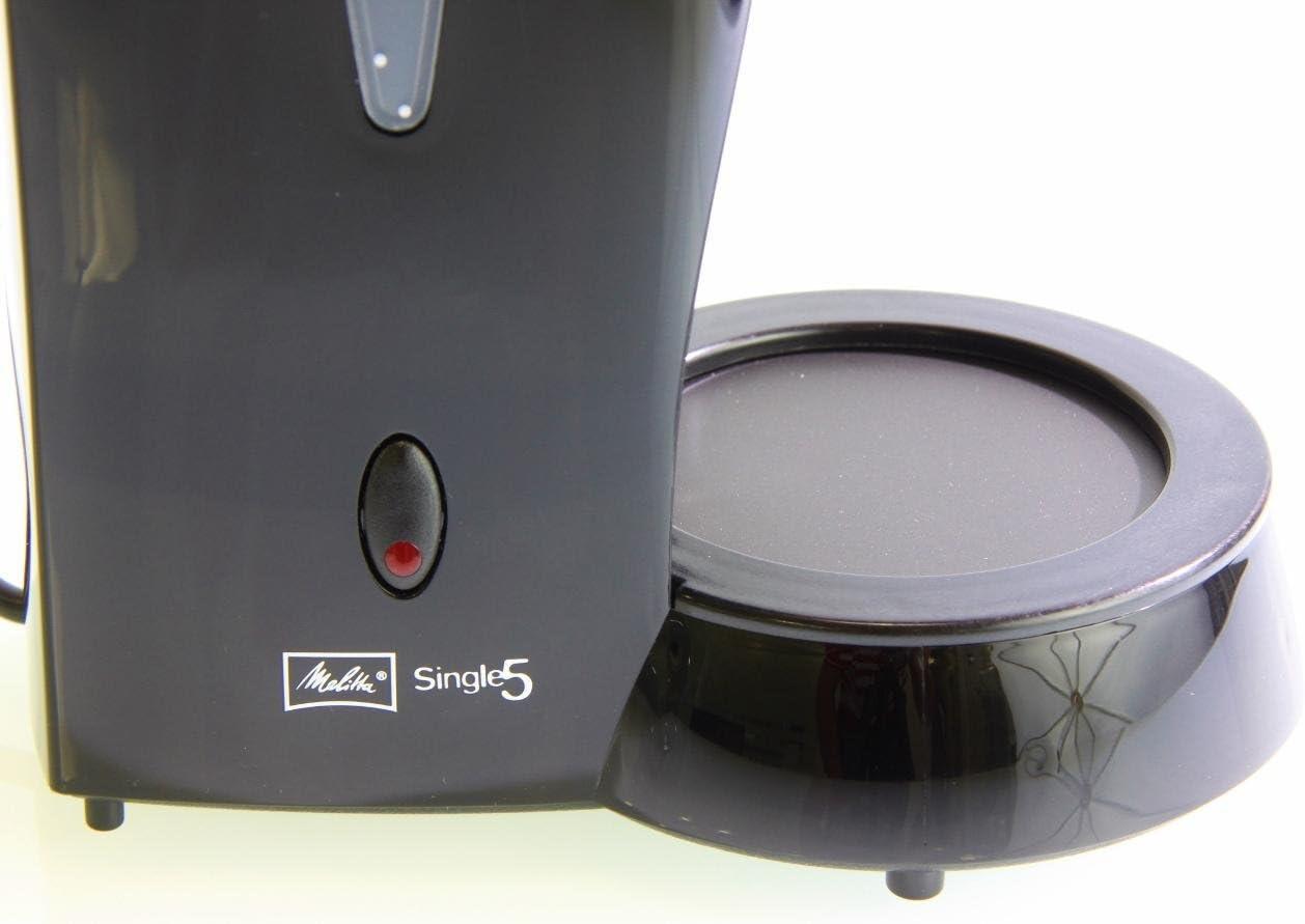 Melitta Cafetera de filtro con jarra de vidrio Para 5 tazas de caf/é Negro M720-1//2 Papel Natural 502001 Filtros de Caf/é Desechables Single 5