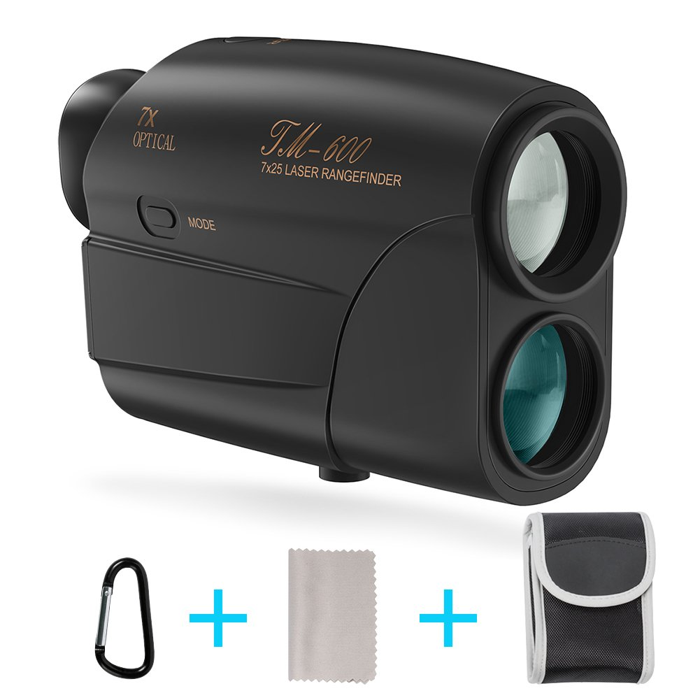 Laser Rangefinder, Fnova Hunting Range Finder Ranging 5-600 Yards, +/- 1 Yd Accuracy, 7X Magnification Lens with Distance and Speed Mode for Golf,Racing,Archery,Survey, Laser Distance Meter by Fnova