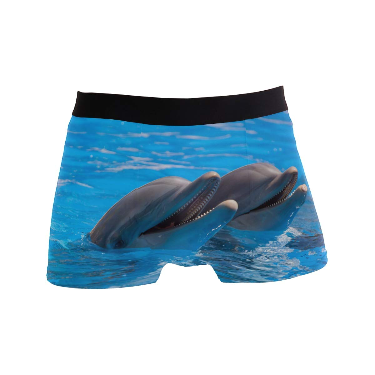 KUWT Funny Ocean Animal Dolphin Mens Boxer Briefs Underwear Comfortable Underpants for Mens Boys Youth