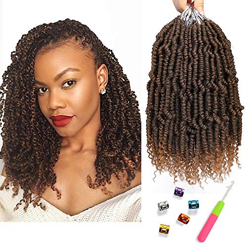 - Bomb Twist Crochet Hair Spring Twist Hair Prelooped Crochet Braids Synthetic Hair Extension Passion Twist Mini Twist Hair dreadlocks Braiding Hair for Women 6 Packs 14inch By Mirra's Mirror(T1B/30)