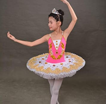 Ballet Infantil Tutu Ballet Traje Blanco Rosa Rojo Azul, 140cm ...