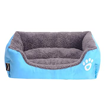 Huichao Moderno Ultra Suave Cama para Mascotas Cachorro de Perro Cojín para Perros Cojín Dormir Cojín para Uso Diario (Azul),S: Amazon.es: Hogar