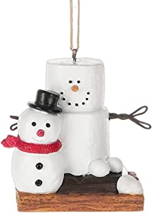 Midwest-CBK Original S'Mores Smore Man with Fresh Made Snowman Christmas Tree Ornament