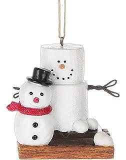 original smores smore man with fresh made snowman christmas tree ornament - Snowman Christmas Decorations