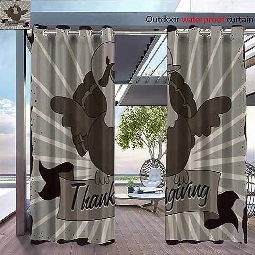 QianHe - Cortina de privacidad para Exteriores para pérgola, Venta Grande, Moderna y Moderna Cortina Repelente al Agua para balcón: Amazon.es: Jardín