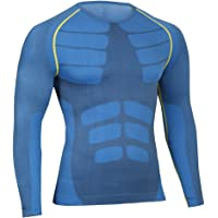 Bwiv Camiseta Hombre Deportiva Compresión Camiseta Interior Hombre Manga Larga Fitness Gimnasio Aire Libre para Entrenamiento Ciclismo Talla M hasta XL 3 Colores