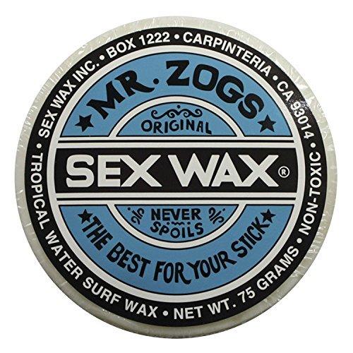 Mr. Zogs Original Sexwax - Tropical Water Temperature Coconut Scented (White) (Sex Wax Sticker)