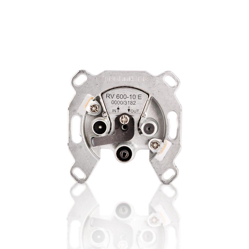 TechniSat TECHNIPRO RV 600-10E Durchgangsdose mit Ü berlastschutz Silber 0580634