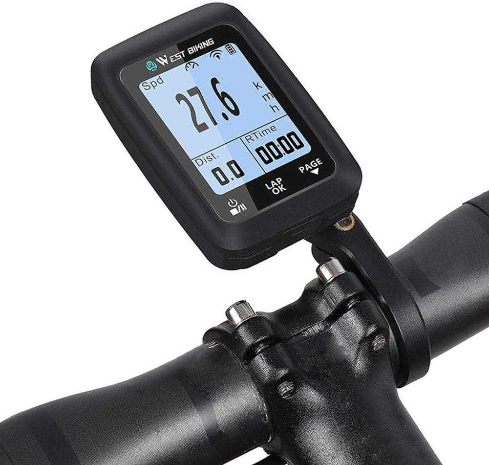 Ciclocomputador inalámbrico GPS tacómetro IPX7 resistente al agua, bicicleta de carretera, MTB, Bluetooth ANT + puede conectarse a la mayoría de las bicicletas con sensores de frecuencia de pedalada: Amazon.es: Hogar