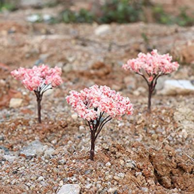 Yardwe 10Pcs Landscape Scenery Trees Architecture Trees for DIY Crafts or Building Model