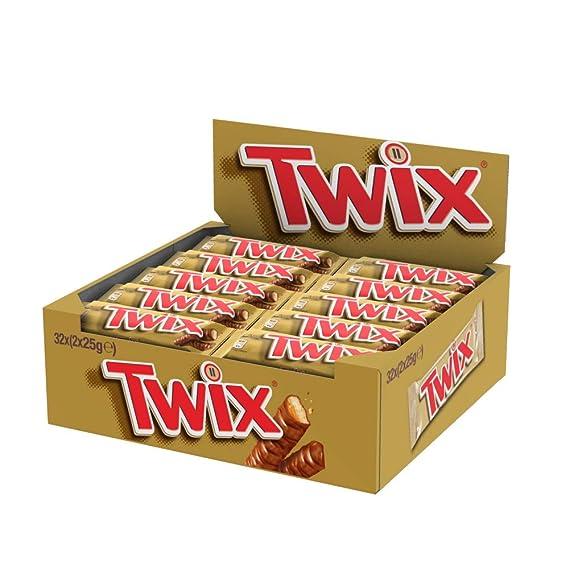 Twix - Barrita de galleta y caramelo cubierta de chocolate leche - 50 g