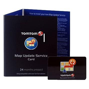 TomTom Map Update System - Tarjeta prepago (24 meses) de actualizaciones de sistema para GPS de las series GO, ONE, ONE XL y XXL (importado): Amazon.es: ...