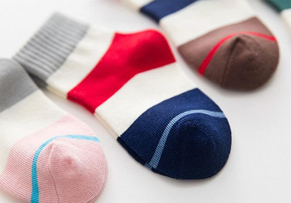 5 Pack kids Girls Boys Fashion Cotton and Soft Cute Breathable Thick Warm Socks