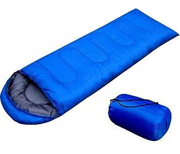 Saco de dormir de deportes al aire libre que acampa yendo Con bolsa de transporte ligero fácil llevar (Azul): Amazon.es: Deportes y aire libre