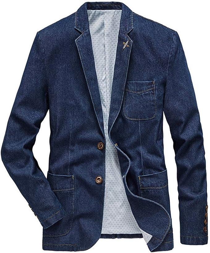 KUDACO デニムジャケット ジージャン gジャン ジャケット メンズ カジュアル 無地 シンプル アウター 長袖 柔らかい 軽量 防寒 防風 春 秋 冬 3色6サイズ