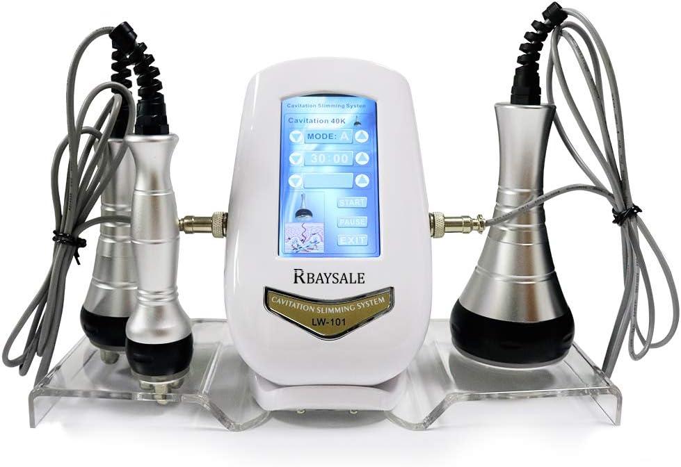 RBAYSALE 3 en 1 RF Ultrasonido Máquina 40K Máquina de Belleza Cavitacion Ultrasonidos Radiofrecuencia Facial Reafirmante Reducir la Grasa, Arrugas Anti-envejecimiento Adelgazar Máquina