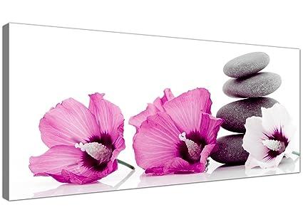Stampe Cucina Moderna : Wallfillers grandi stampe su tela di fiori rosa e ciottoli