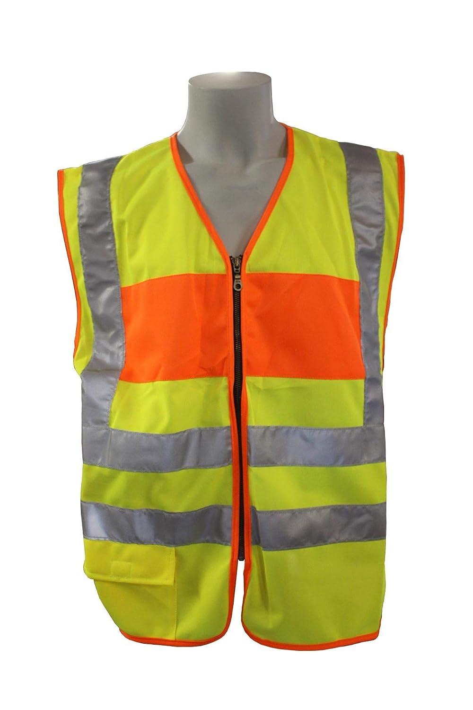 Warnweste Mit Reißverschluss Reflektierende Sicherheitsweste Mit Tasche Einsatzweste Gelb Bei Günstiger Preis Kostenloser Versand Ab 29 Für Ausgewählte Artikel