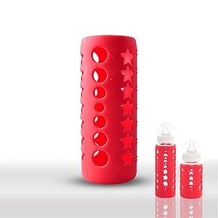 Cristal bebé biberón Botella de Cover/Funda Carcasa de silicona proteger aislante (8,