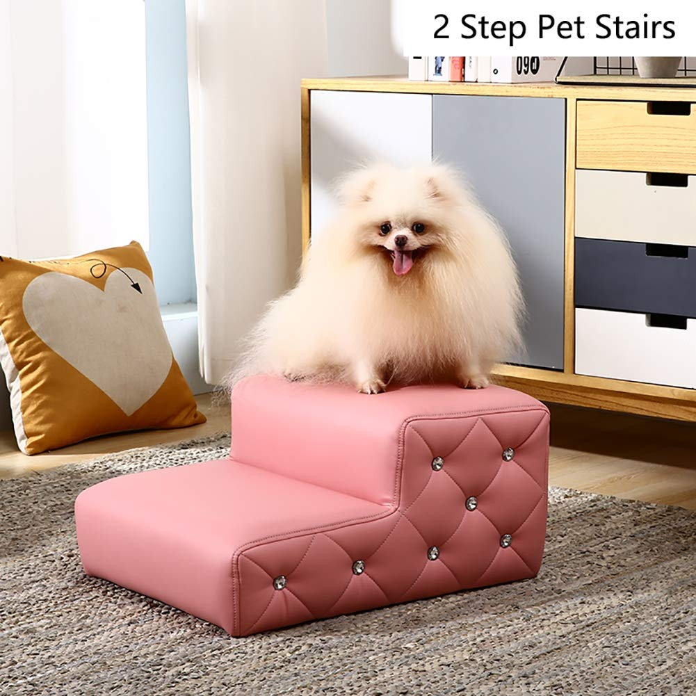 Escaleras de mascotas- Perros A La Cama Alta, Escalera De Gato para La Sala De Estar del Dormitorio, Color Y Paso Opcional (Color : Negro, Tamaño : 4 Step): ...
