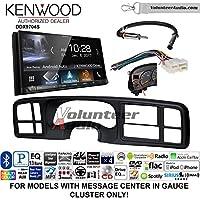 Volunteer Audio Kenwood DDX9704S Double Din Radio Install Kit with Apple Carplay Android Auto Fits 1999-2002 Silverado, 1999-2002 Tahoe, 1999-2002 Yukon