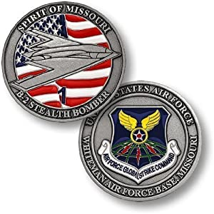 Whiteman Air Force Base B2 Stealth Bomber Challenge Coin