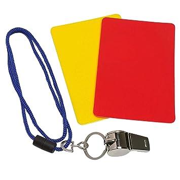 Land Haus Shop 3 Tlg Kinder Schiedsrichter Set Triller Pfeife Gelbe Rote Karte Fussball Sport