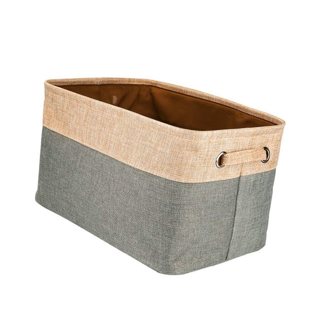 1 unidad Cestas de almacenamiento plegable grande para ropa de lavander/ía organizador abierto de almacenamiento superior abierto de tela organizador de lino y algod/ón