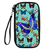 Bigcardesigns Passport Holder Multifunctional Wallet Digital Print Butterfly 9