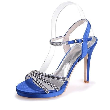 nuevo invierno Sandalias Fiesta con Plataforma Azules de
