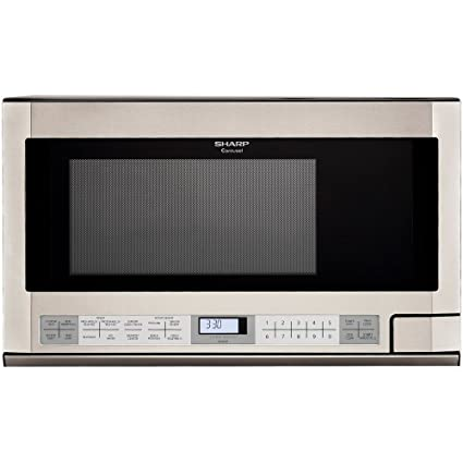 Superbe Amazon.com: Sharp R 1214 1 1/2 Cubic Feet 1100 Watt Over The Counter  Microwave, Stainless: Built In Microwave Ovens: Kitchen U0026 Dining