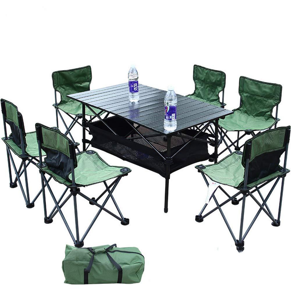 Folding chair Juego de mesas y sillas Plegables 4 Personas 6 ...