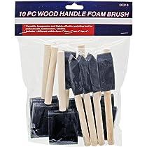 25mm Lopbinte 40Pcs 2 Inch Foam Sponge Wood Handle Paint Brush Set /& 20 x 1 Inch in Sponge Brushes Wooden Handle Painting Drawing Art Craft Draw
