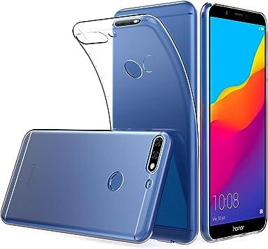 Peakally Funda Huawei Honor 7C, Transparente Delgado Silicona ...