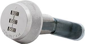 """Combi-Cam 7850R-XL Combination Cam Lock, 1-3/8"""" Chrome Finish"""