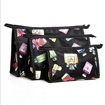 Amazon.com   JOJOER 3 PCS Makeup Bag for Women Young Girl Travel Makeup  Pouch Set Cute Waterproof Toiletry Bag Pencil Bag Holder with 3 Size Zipper  Cosmetic ... 817cb2f0591a1