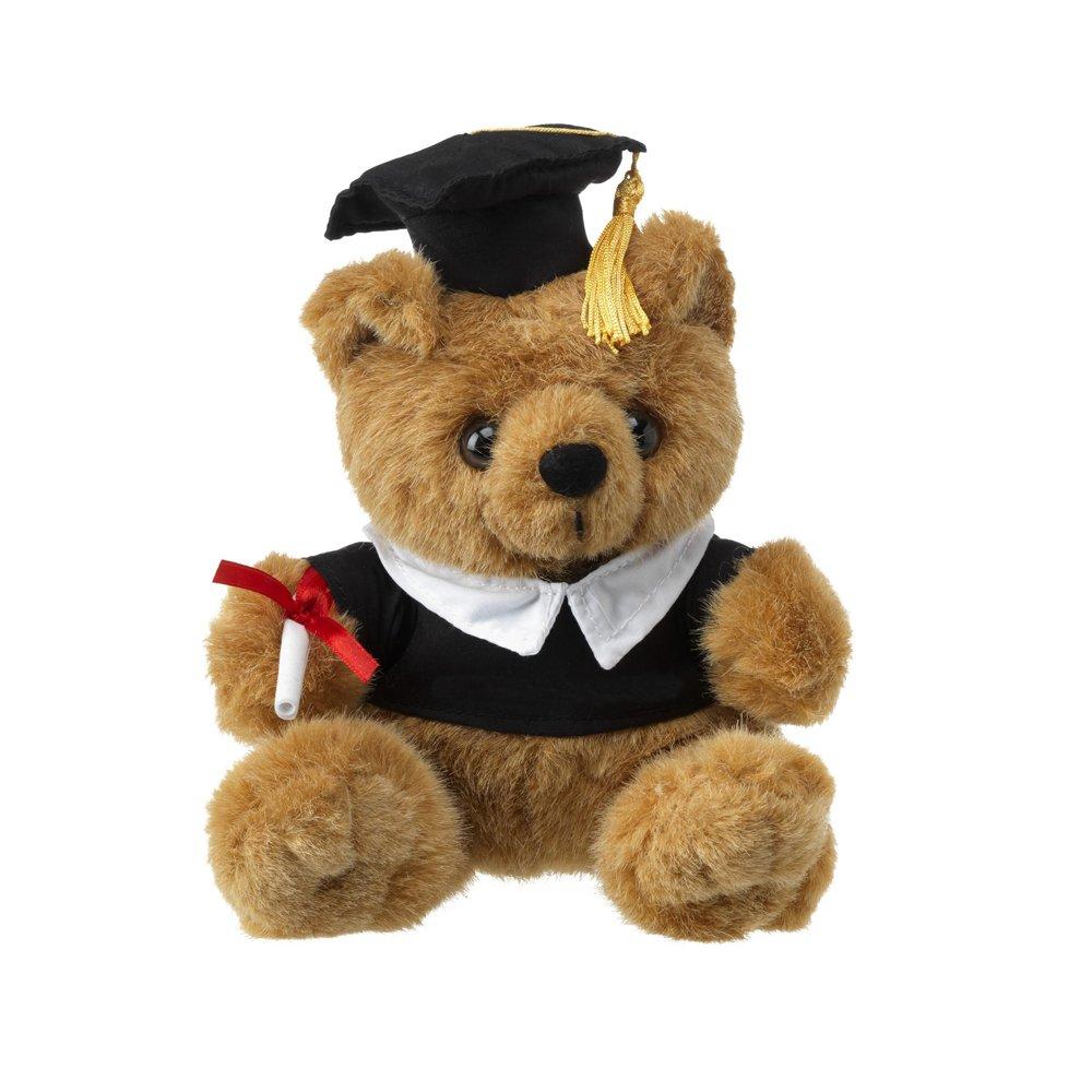eBuyGB 1315203 - Oso de peluche de graduación, suave, juguete bonito, color marrón, 22,86 cm