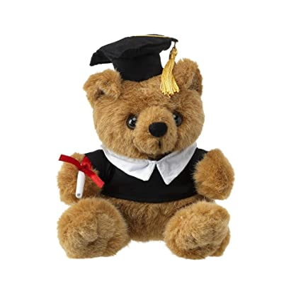 "eBuyGB 9"" Brown Graduation Plush Teddy Bear with Cap, Academic Gown and Diploma in"