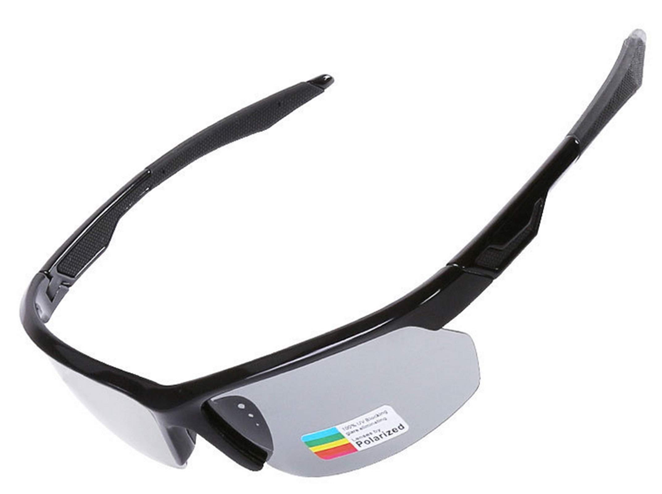 Adisaer Outdoor Goggles Cycling Color Changing Polarized Riding Sports Glasses Black for Adults