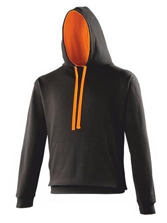 92f0db999 AWD Black Hoodie with Contrasting Orange Hood Lining and Drawstings:  Amazon.co.uk: Clothing